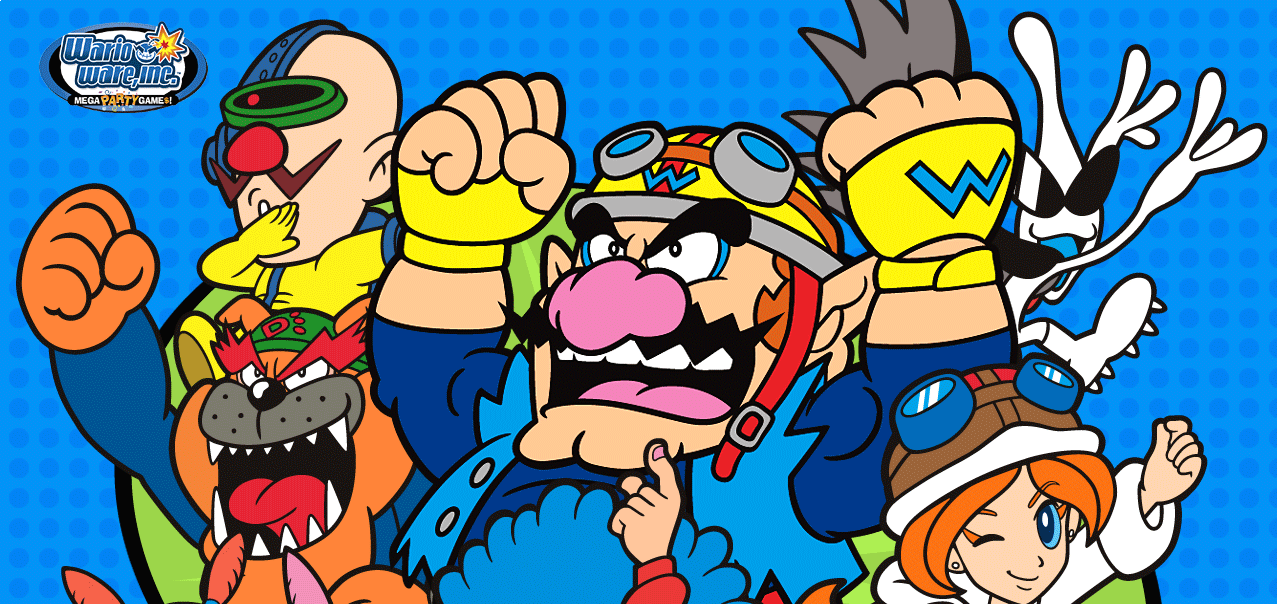 Banner Wario Ware Inc Mega Party Games