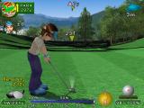 Hier zie je een van de speelbare karakters van ace golf.