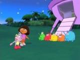 Dora maakt steeds nieuwe vriendjes op haar avonturen.