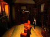Een van de weinige niet enge plekken in dit spel: een studeerkamer.