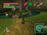Hier zie je een van de velen prachtige tempels in dit spel, namelijk de bos tempel.