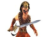 Speel als Sphinx, de Egyptische held.