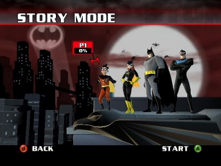 Speel als Robin, Batgirl, <a href = https://www.mariocube.nl/Zoeken_GameCube.php?search=Batman target = _blank>Batman</a> of Nightwing.