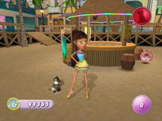 Yasmin is op het strand samen met haar huisdier.