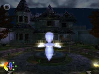 Een huis en een spook, dat moet een spookhuis zijn.