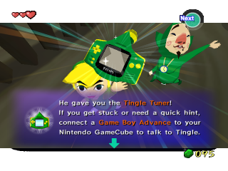 "In <a href = https://www.mariocube.nl/GameCube_Spelinfo.php?Nintendo=The_Legend_of_Zelda_the_Wind_Waker target = _blank>Zelda the Wind Waker</a> werd de GameBoy Advance een ""Tingle Tuner""."