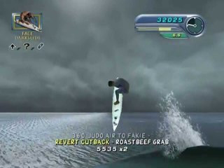 De gameplay is net zoals een tony-hawk game maar nu op een surfplank!