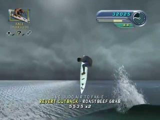 De gameplay is net zoals een tony-hawk game maar nu op een surfplank!