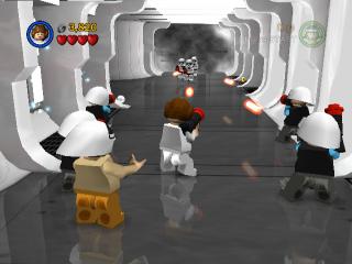 Speel als Lego-poppetjes door het verhaal van de eerste drie Star Wars-films.