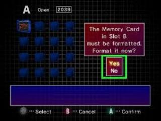 Het formatteren van memory cards is zo gepiept.