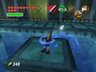 Hier zie je de tempel die door velen beschouwd wordt als hun meest gehate tempel in de serie: de water tempel.