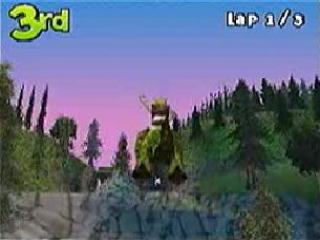 Shrek Smash n Crash Racing Duitse Uitgave: Screenshot
