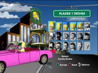 Race met verschillende leuke <a href = https://www.mariocube.nl/GameCube_Spelinfo.php?Nintendo=Simpsons_Hit_and_Run target = _blank>Simpsons</a> karakters.