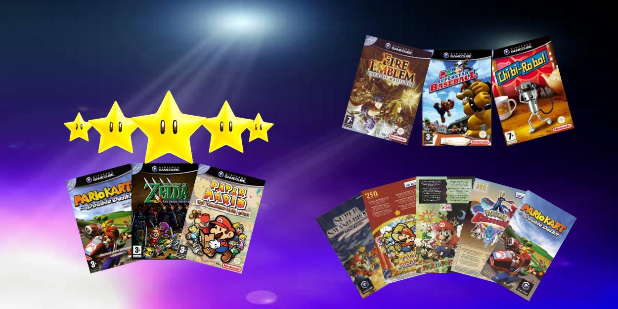 GameCube games met handleidingen en VIP stars onbekrast als nieuw