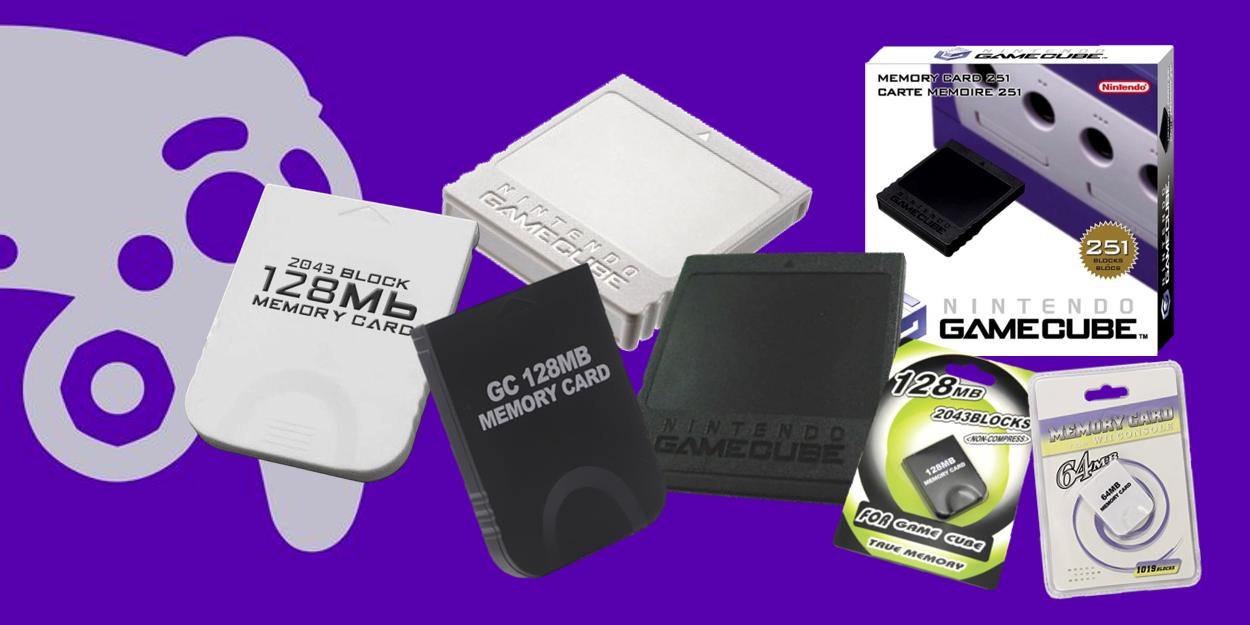 GameCube geheugenkaarten