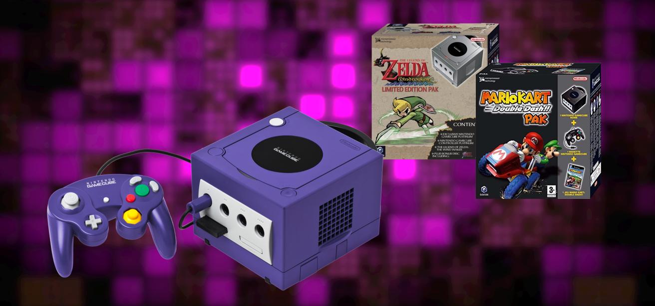 GameCube Paars, Zelda Pak en Mario Kart Pak