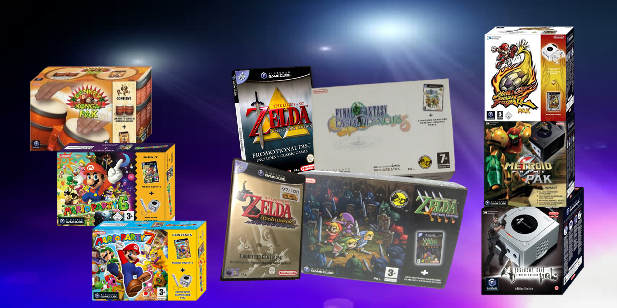 Limited Editions en Paks voor GameCube
