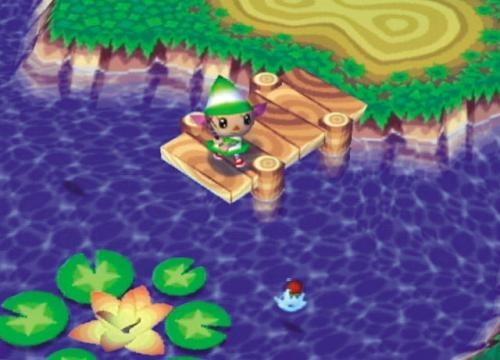 De bloem in het meertje bloeit alleen in de zomer, ook zwemmen er andere vissen dan in riviertjes en in de zee.