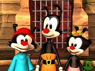 De anamaniacs van links naar rechts: Wakko, Yakko en Dot