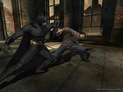 Hier is batman zoals gewoonlijk aan het vechten.