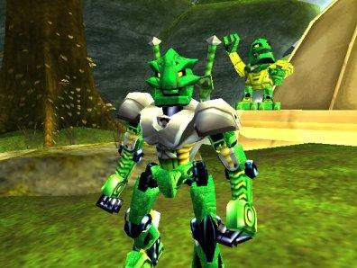 Groen, 1 van de 6 beschermende Bionicles