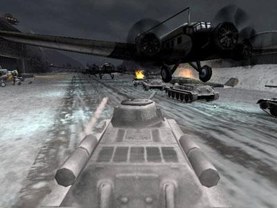 Zware gevechten met tanks en vliegtuigen.