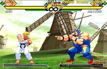 Veel bekende Street Fighter figuren komen in dit spel voor.
