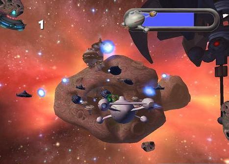 Leuk is dat je niet alleen maar op de grond blijft. Je komt zelfs in de ruimte, zoals je hier ziet!