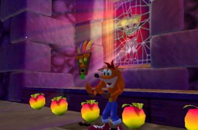Crash is dol op appeltjes. 100 appeltjes is weer een leven. Het masker beschermt je ook eenmalig.