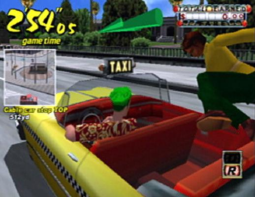 Jump in for a crazy taxi!