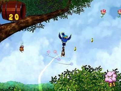 Je loopt niet alleen in dit spel, je hangt ook aan een vogel en zit je op de rug van een grote Ram.