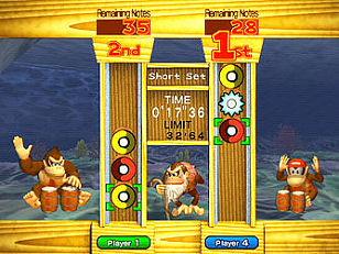 In Donkey Konga 2 zitten ook mini games, bij deze moet je zo snel mogelijk op de goede manier trommelen/klappen.