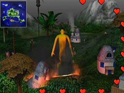 Doshin the Giant is niet echt een super mooi spel, het origineel is dan ook afkomstig van de Nintendo 64DD(een uitbreiding voor de Nintendo 64 die alleen in Japan uitkwam)