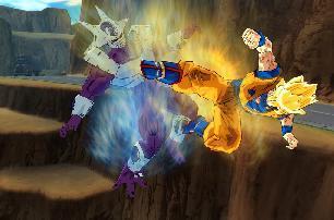 Goku schopt Cooler (de broer van Frieza)