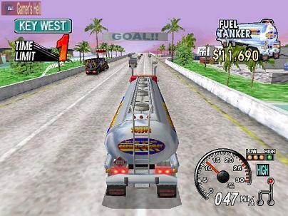 Een echt Arcade spel. Breng je vracht op tijd op de plaats van bestemming.