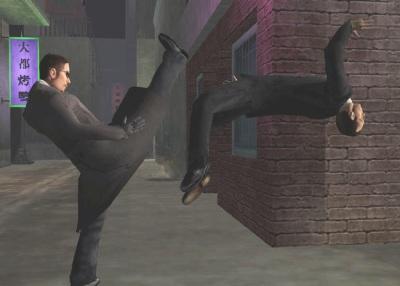 Je hebt de keuze om je Kung Fu vaardigheden te gebruiken of naar je wapens te grijpen.