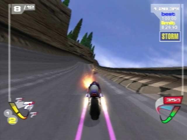Race op hoge snelheid