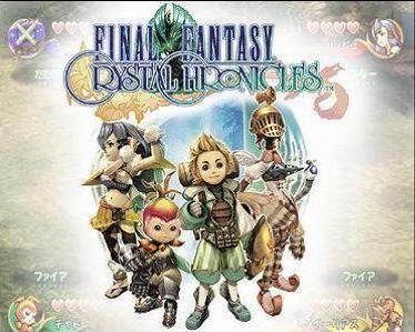 De rassen van Final Fantasy Crystal Chronicles van links naar rechts de Selkie´s (zijn sneller), de Lilty´s (aanvallend goed), de Clavat´s (Verdedigend goed) en de Yuke´s (goed in magie).