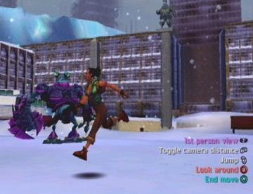 Lekker sprintje door de sneeuw!