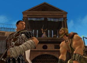 Vecht in een Romeinse Arena