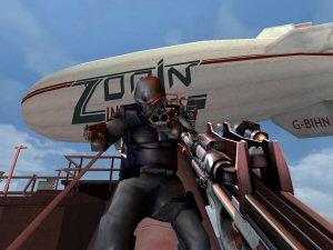 In het spel kom je bekende 007 lokatie`s tegen, Zie dan ook hier `Max Zorins Zeplin`