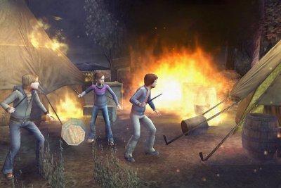 Help het kamp staat in brand