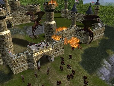 `Help!! De draken zetten het kasteel in brand!`