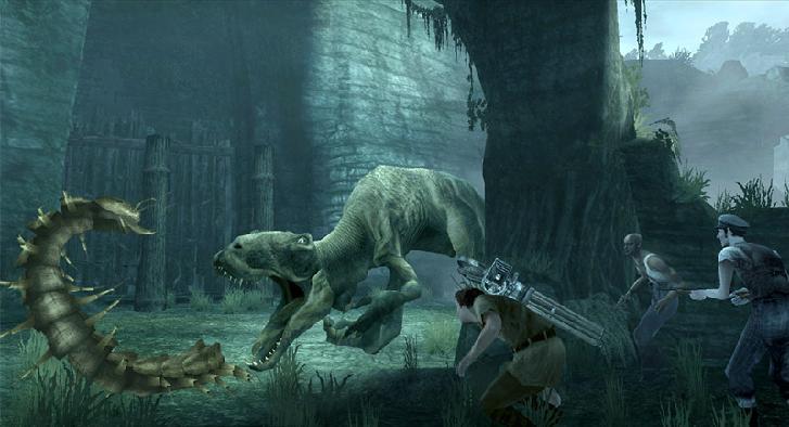 In dit spel speel je niet alleen met King Kong, het is ook een shooter als je met Jack Driscoll speelt.