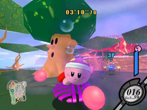 Multiplayer Battles met Kirby die eigenschappen overneemd. Wohw!!