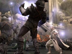 Gandalf gaat in Helmsdiepte de strijd aan met behulp van zijn magische krachten