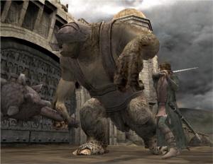 Aragorn bij de Zuidelijke Poort bij Minas Tirith in gevecht met een trol