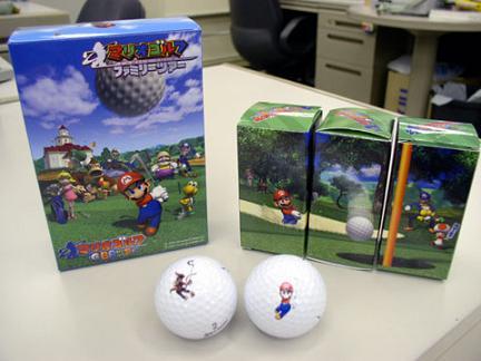 Voor de echte verzamelaars zijn er zelfs echte Mario golfballen!