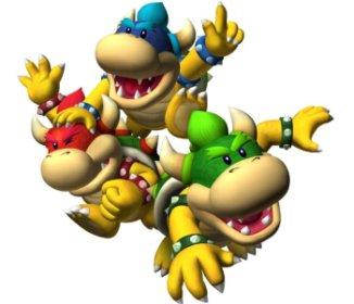 Red Mini Bowser, Green Mini Bowser en Blue Mini Bowser debuteren in Mario Party 5!