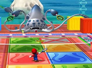 Er zitten veel dingen uit Super Mario Sunshine in deze Mario Tennis waaronder deze Gooper Blooper.